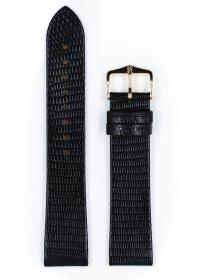 Lizard, schwarz glänzend, M, 18 mm