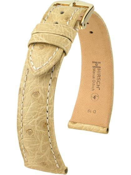 Massai Ostrich, beige, L, 20 mm