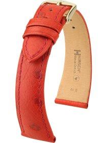 Massai Ostrich, rot, L, 19 mm