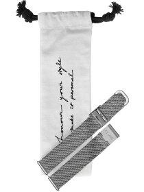 Minuit Strap Mesh Silver 16 mm