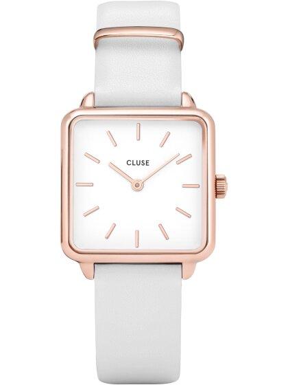 Armbanduhr, rosé/weiß